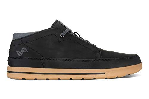 Forsake Phil Chukka - Men's Casual Leather Mid-Top (10 M US, Black)
