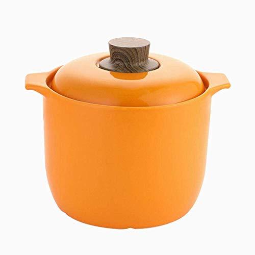 Olla de Barro para cocinar Cazuela de cerámica Olla de Barro Cazuela de Terracota - Fácil de Verter Cómodo Agarre Antideslizante Fácil de Llevar-Black_4.8L Fácil de Usar