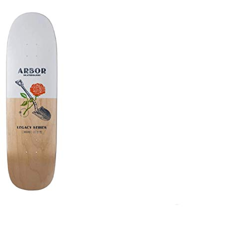 Arbor Spoon 19 Longboard, Adults Unisex, White/Natural (White) 82.5 cm