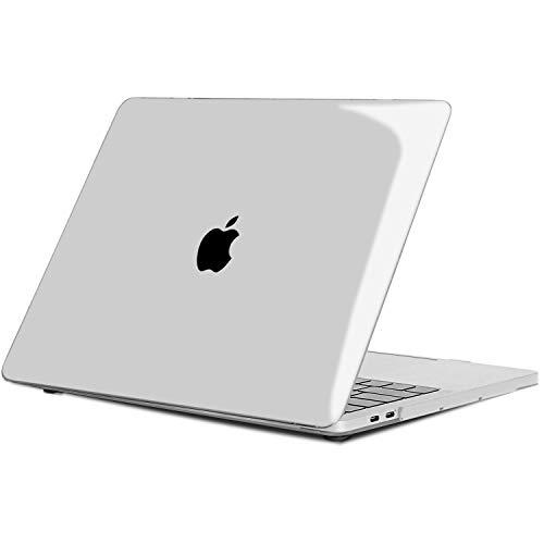 TECOOL Custodia MacBook PRO 15 Touch Bar 2016/2017/ 2018/2019, Sottile Plastica Case Rigida Cover per Apple MacBook PRO 15,4 Pollici con Touch Bar & Touch ID (Modello: A1707/ A1990) - Trasparente