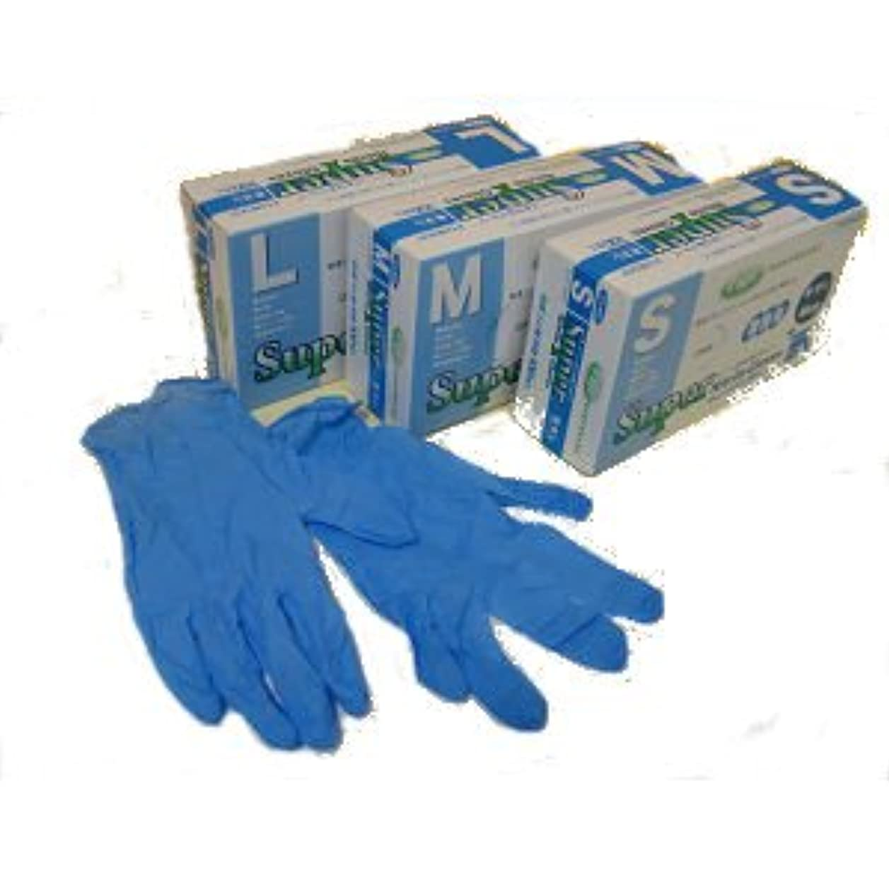 平均アクセシブル毛布スーパーニトリルグローブ粉なし100枚ブルー M