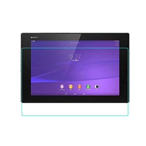 INSOLKIDON 2-Pieza Compatible con Sony Xperia Z2 Tablet / Z4 Tablet Protector de Pantalla Vidrio Templado Película Cobertura Total Transparente 3D Protector Vaso Sony SGP512 SGP541 (Z2)
