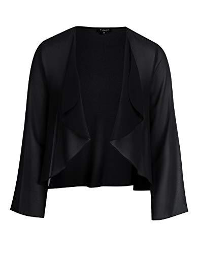 Bexleys Woman by Adler Mode Damen verschlusslose Chiffon-Jacke schwarz 40