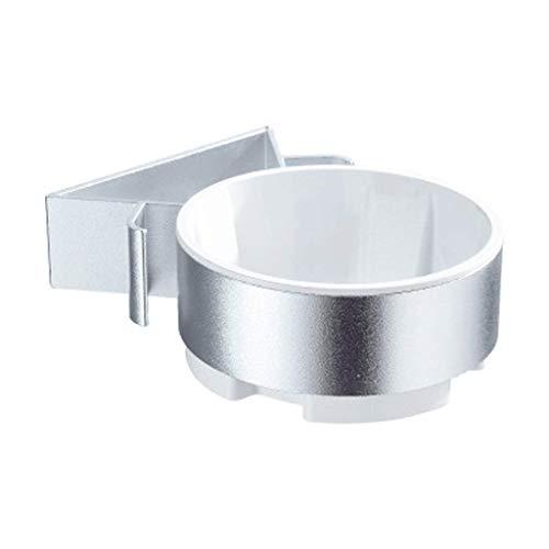 zyl Estante para secador de Pelo de aleación de Aluminio artículos para el hogar Soporte para secador de Pelo y Soporte para Plancha de Pelo Soporte de Metal montado en la Pared (Color: Blanco)
