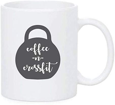 Leonat Crossfit Mug Mugs Regalos para él Regalos para ella Regalo para Crossfitter Coffee y Crossfit Coffee Tazas personalizadas Tazas de café