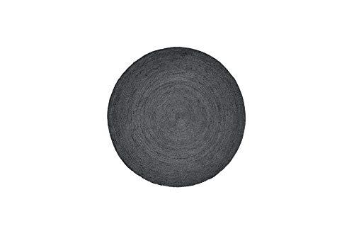 Nordal Teppich aus Jute in Schwarz, rund, Ø150 cm