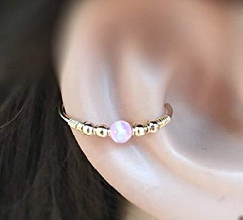 FloweRainbow Ohrmuschel Ohrring Opal Conch Ohrringe Gold Silber