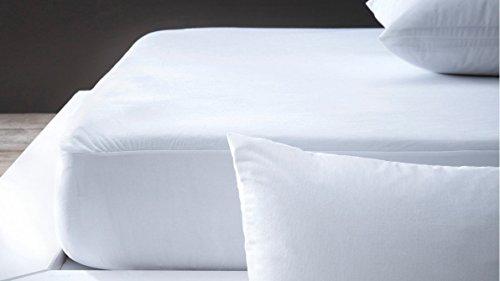Protector de colchón 140 x 190 cm, Anti-ácaros imparmeable