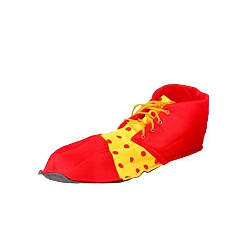 BESTOYARD Clown Schuhe Dot Prom Performance Requisiten Halloween Kostüm Clown Schuhe für Frauen Männer (rot)