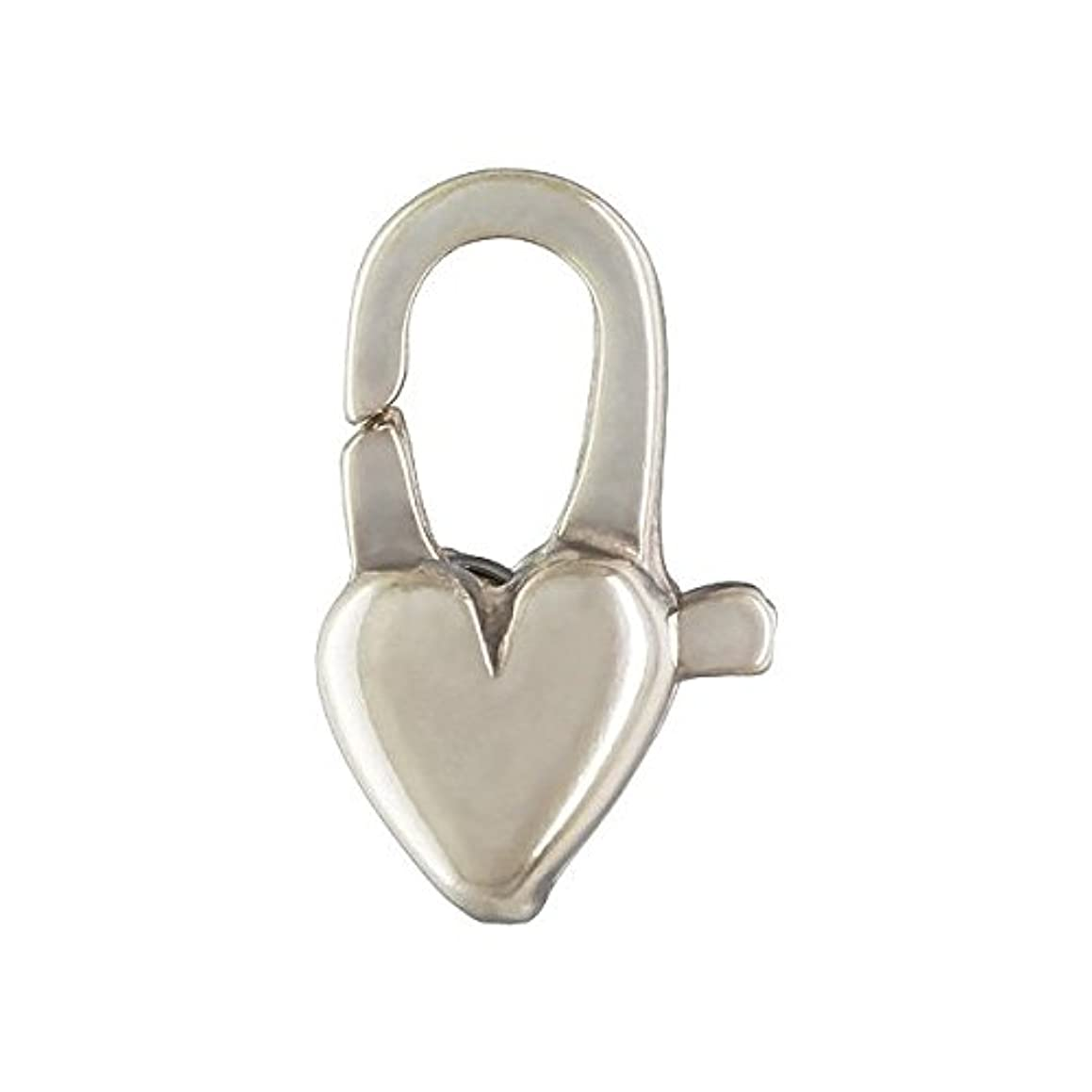 4 qty. 5x12mm Heart Clasps .925 Sterling Silver By JensFindings