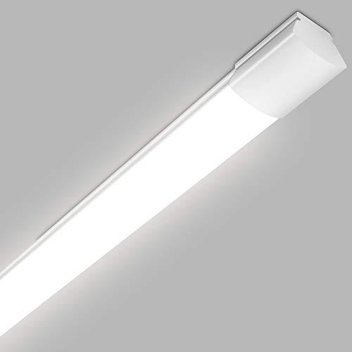 Oraymin Feuchtraumleuchte LED Deckenleuchte 120CM, IP65 LED Werkstattleuchte 25W 2800LM, Lampe röhre led 120cm für Badezimmer Büro Garage Supermarkt Korridor Keller, Neutralweiß 4000K