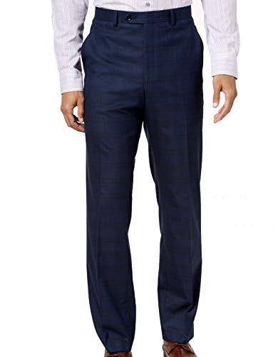 Alfani Mens Traveler Casual Trouser Pants, Blue, 34W x 30L