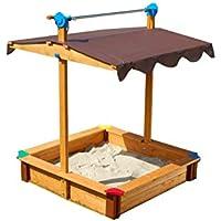 Gaspo 310436 - Cajón de arena para juegos con techo [importado de Alemania]