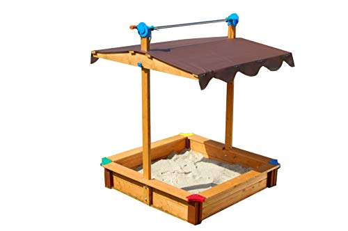 Exaco Felix Gaspo Sandbox, Felix, Orange-Brown, 40 x 51 inches