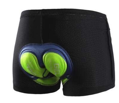 LCBYOG Ropa Interior de Ciclismo Gel Acolchado Hombres Pantalones Cortos de Ciclismo para Mujeres Medias Cuesta Abajo Respirable Ropa de Bicicleta de Secado rápido Ciclismo Culote