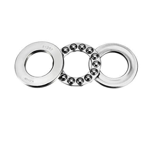uxcell 51207 Thrust Ball Bearings 35mm x 62mm x 18mm Chrome Steel ABEC3 Single Row Roller