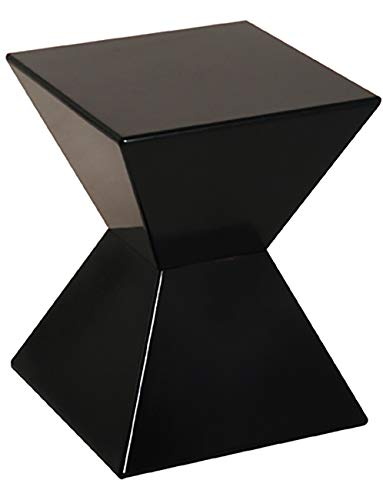 Haku Möbel Beistelltisch - moderner Tisch Hochglanz schwarz Lack Höhe 43 cm