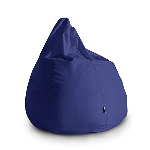 Avalon Pouf Poltrona Sacco Grande Bag L Jive 80x80x100cm Made in Italy in Tessuto antistrappo Imbottito Colore Blu Royal