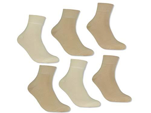 Trichter 6 Paar Herren Kurzsocken ohne Gummi | Männer Socken Schwarz Baumwolle | Baumwoll Sommer-Socken Herren für Sneaker, Anzug, Business, Sneakersocken, Herrensocken | Atmungsaktiv (Beige, 39-42)