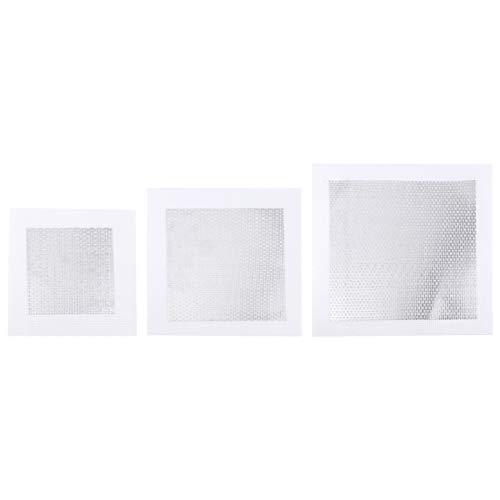 iplusmile 3 Stück Aluminium Wand Reparatur Patch Selbstklebende Mesh Wand Patches Bildschirm Trockenbau Loch Aufkleber Werkzeug für Trockenwand Gipskartondecken 4 Zoll 6 Zoll 8 Zoll