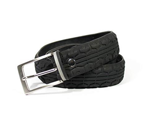 MNMUR. Gürtel aus Fahrradreifen. Größe S/M. Farbe schwarz und grau.