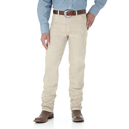 Wrangler Men's 13MWZ Cowboy Cut Original Fit Jean, Tan, 38W x 30L