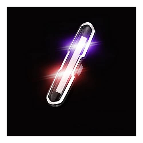 Luz trasera de bicicleta creativa COB seguridad freno inteligente advertencia luz trasera USB recargable bicicleta de montaña LED noche montar cola luz