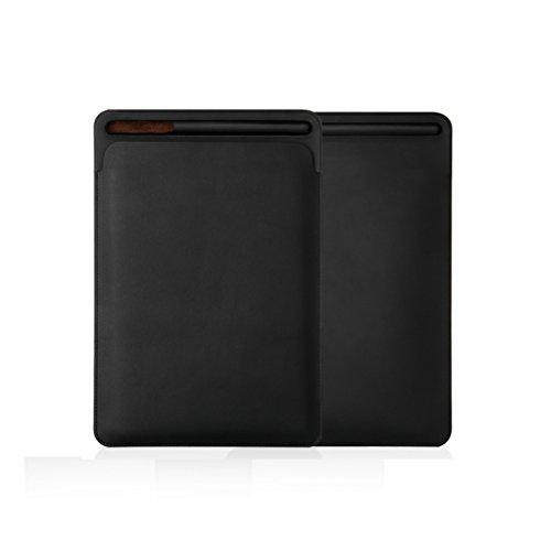 SHEAWA iPad Pro 10.5用 ケース カバー Pencil収納付き 軽量 PUレザー スリム 薄型 6色あり (ブラック)