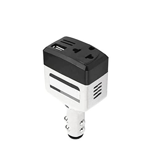 Liadance 1Pc Fahrzeugen montierte USB-Ladegerät Adapter 12V / 24V Wechselstrom 220V Auto-Handy-Ladegerät Motorrad Telefon Ladegerät Auto-Zubehör Handy-Ladegerät für Auto-Motorrad - White