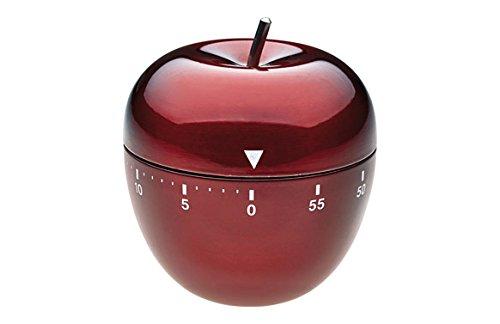 TFA Dostmann Küchentimer Apfel 38.1030.05 aus Edelstahl in Rot