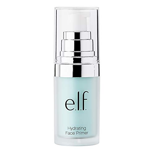 e.l.f., Hydrating Face Primer, Lightweight, Long Lasting, Creamy, Hydrates, Smooths, Fills in Pores and Fine Lines, Natural Matte Finish, Infused with Vitamin E, 0.47 Oz