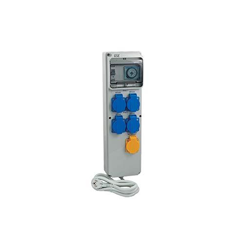 GSE Timer Box III 4 x 600 Watt + Calefacción 220 V - Grow Interior Cultivo Lámparas Control Tubería Ventilador Temporizador Interruptor Ventilador de riego Jardín (12x600 vatios + calefacción 380 V)