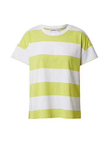 edc by ESPRIT Damen 040CC1K305 T-Shirt, 320/CITRUS Green, M