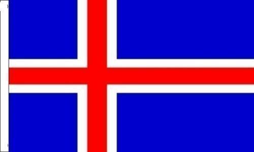 ISLAND Ärmeln Flagge geeignet für Boote 45cm x 30cm (45,7x 30,5cm) + 59mm Button