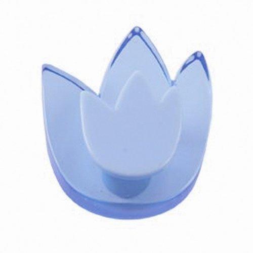 Lafinesse bouton de meuble bleu young pommo designs tulipe