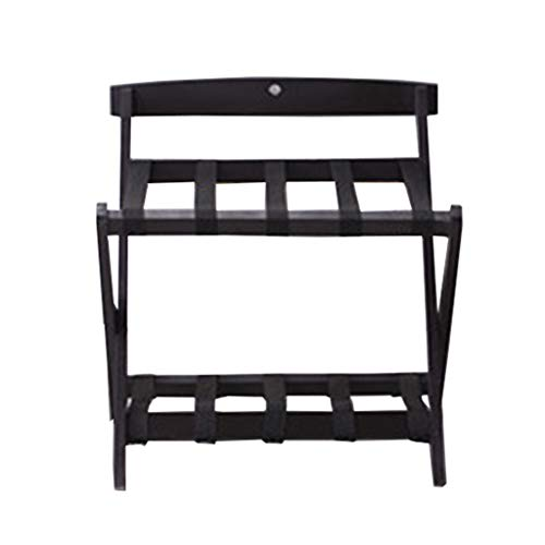 Find Bargain Luggage Rack-Solid Wood Luggage Rack Hotel Home Folding Shelf Storage Rack (Color : B)