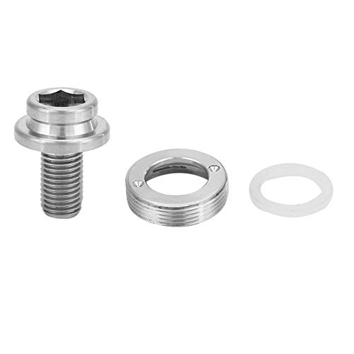 SOONHUA Mountain Road Bike Crank Bolt Bottom Bracket Screw Set Kit for Bicycle BB Square Hole Central Axle Screws M8×15mm