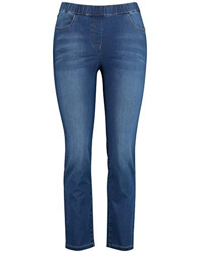 Samoon 120100-29155 Jeans Straight, Blu (Denim Azzurro 8969), (Herstellergröße: 48) Donna