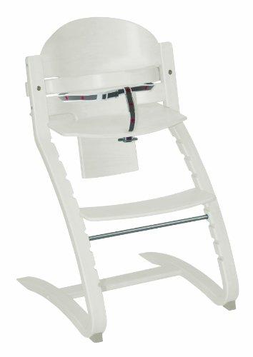 roba TreppenhochstuhI 'Move', von Babyhochstuhl bis Jugendstuhl in Rückenlehne und Sitz flexibel verstellbarer Hochstuhl, Holz, weiß