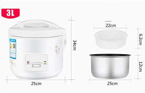 Rijstkoker 5L 4L 3L Houd witgoud, hoogwaardige binnenpan met warmfunctie voor maximaal 12 personen, maatbeker voor rijst 3 liter.