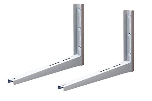 Michl Wandkonsole Halterung Wärmepumpe, Klimagerät, Klimaanlage 180 kg MTMS404, Weiß