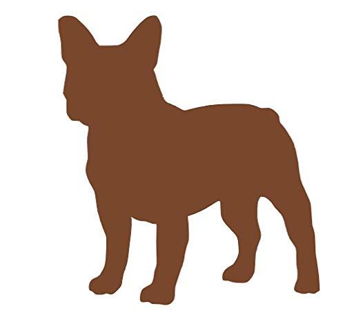 Desconocido Vinilo de Corte Pegatina Bulldog Frances 10x9cm (Marron)