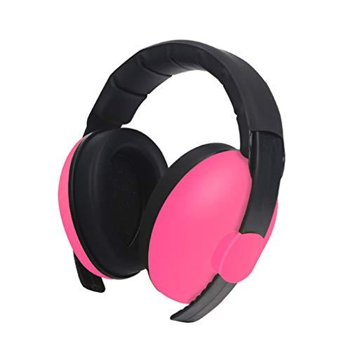 🦄🦄🦄Orejeras insonorizadas,Protección auditiva para el bebé Auriculares con cancelación de Ruido Orejeras Ajustables,Orejeras Protectoras para Aprender Dormir🦄🦄🦄 (Rosa Caliente)