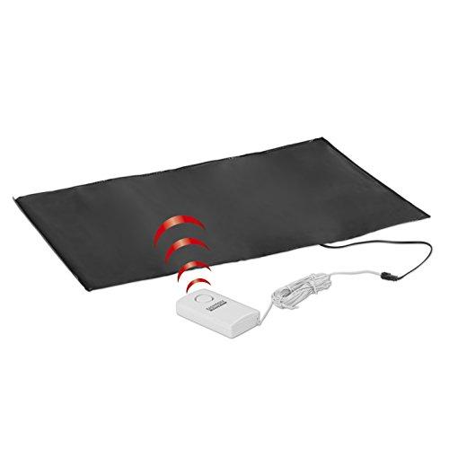 easymaxx Security Alarmtrittmatte Schwarz, Weiß mit Kabel 05476