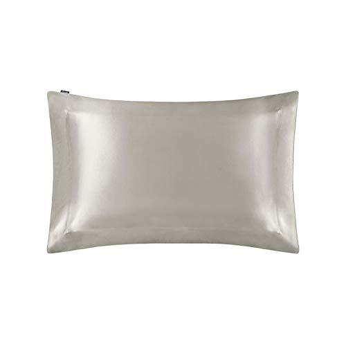 MTXD Funda de Almohada de la Funda de Seda de 40x90cm con la Cubierta de la Almohada de la Mora ecológica Natural. (Color : Silver, Size : 40x80cm)