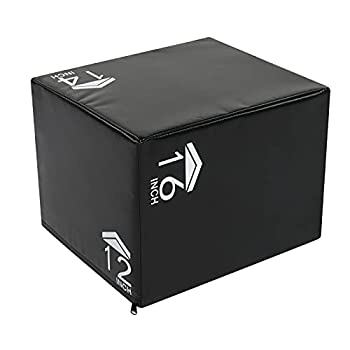 Ochine Plyometric Jump Box Plyo Training Box High Density PE Foam Jumping Box Platform Jumping Trainers Home Gym Box for Jump Training Conditioning Fitness Workout Exercise  Ship from USA
