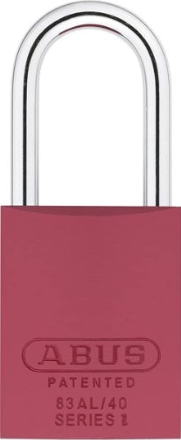 ABUS 83AL/40-300 S2 Schlage Rekeyable Padlock Aluminum Body with 1.5-Inch Shackle, Red Zero-Bitted