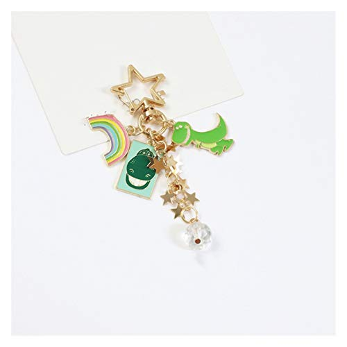 Jfsmgs Couple Keychains Variety of Sweet Crystal Immortal Keychain Pendant Cute Keychain Pendant Package Pendant (Color : 2)
