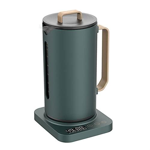 GYQYYGZ Hervidor eléctrico Tetera de Cristal eléctrica multifunción SMARTE Termo Pot 1.35L Tetera de la casa de la Salud del Vidrio de protección de 1,35L con la Pantalla de la Temperatura Tetera