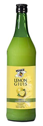 NEXUS Succo Di Limone L 1, Ideale per Condimento, Cocktail, Long Drinks, Granite e Bevande, Prodotto in Italia, Senza Glutine, Vegano